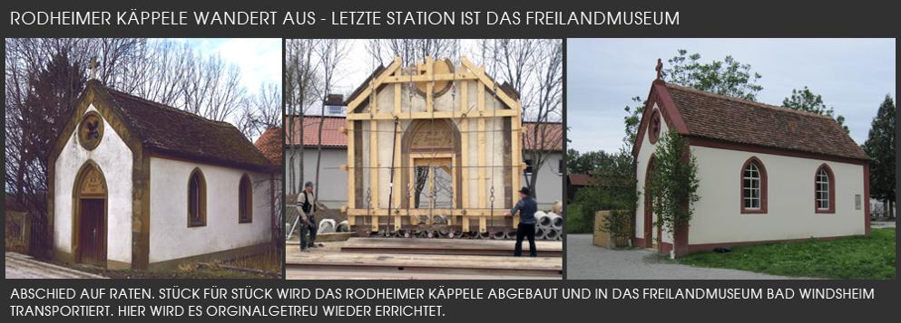 Abbau des Rodheimer Käpples und Transport in das Freilandmuseum Bad Windsheim