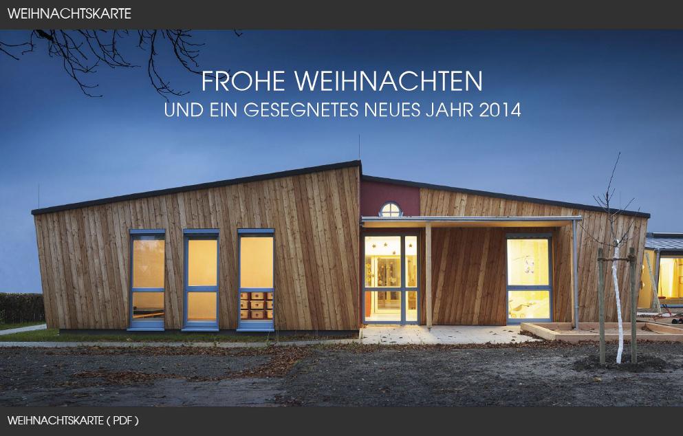 Unsere aktuelle Weihnachtskarte 2013